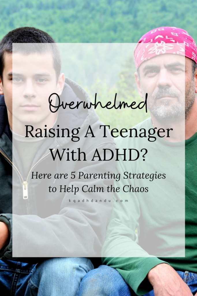 """Here are 5 Parenting Strategies that I use to Calm the Chaos with Teens. Practice """"compassionate listening"""" when raising a teenager with ADHD"""